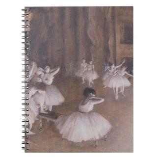 Cadernos Ensaio no palco, 1874 do balé de Edgar Degas |