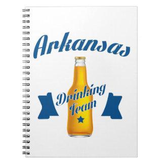 Cadernos Equipe do bebendo de Arkansas
