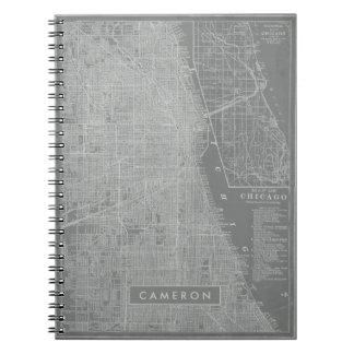 Cadernos Esboço do mapa da cidade de Chicago