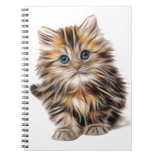 Cadernos escala do design do fractal do gatinho