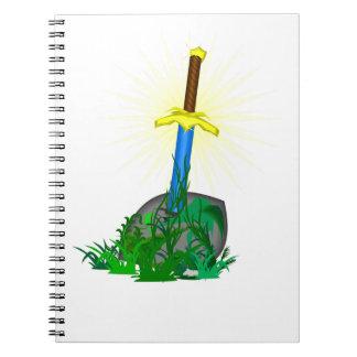 Cadernos Espada na pedra
