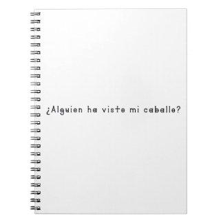 Cadernos Espanhol-Cavalo
