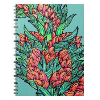Cadernos espirais das hortaliças florais