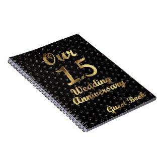 Cadernos Espiral 15o Ouro do preto do livro de hóspedes do