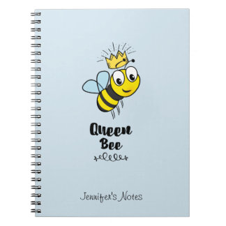 Cadernos Espiral A abelha de rainha bonito Bumble a abelha com a