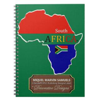 Cadernos Espiral A bandeira de país de África do Sul colore o