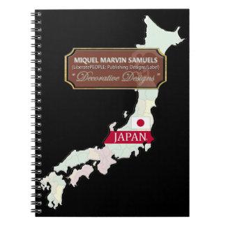 Cadernos Espiral A bandeira do esboço da ilha de Japão colore o