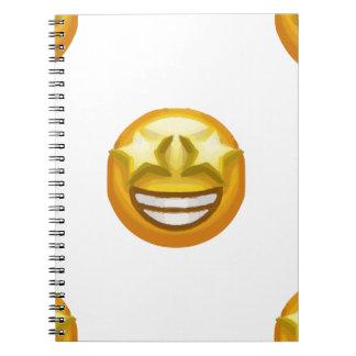 Cadernos Espiral a estrela eyes o emoji