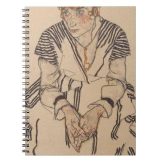 Cadernos Espiral A irmã do artista de Egon Schiele- na lei