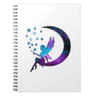 Cadernos Espiral A lua feericamente Stars o roxo