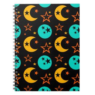 Cadernos Espiral A lua Stars a astrologia estrelado Wiccan da