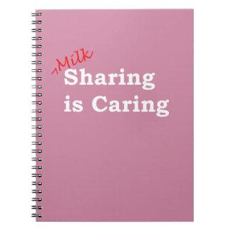 Cadernos Espiral A partilha do leite está importando-se com escrita