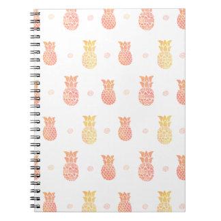 Cadernos Espiral Abacaxi fresco do verão