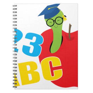 Cadernos Espiral ABC Worm