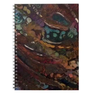 Cadernos Espiral Abstrato de Brown e de azul