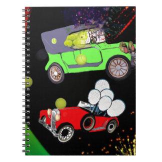 Cadernos Espiral Abundância velha do carro da forma de bolas de