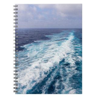 Cadernos Espiral acordar de um navio de cruzeiros