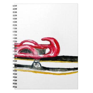 Cadernos Espiral Aguarela do esporte do trenó