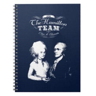 Cadernos Espiral Alexander Hamilton, Eliza. Presentes da história.
