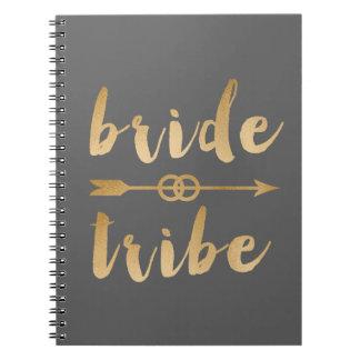 Cadernos Espiral alianças de casamento elegantes da seta do tribo