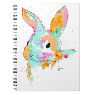 Cadernos Espiral Alice no design da cor de água do país das