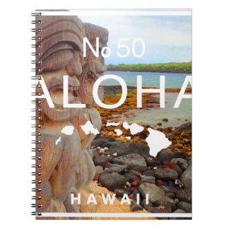 Cadernos Espiral Aloha nenhuns 50 Tiki