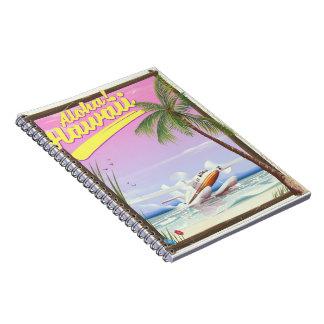 Cadernos Espiral Aloha! Poster de viagens do estilo do vintage de