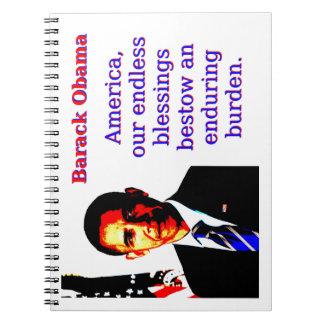 Cadernos Espiral América nossas bênçãos infinitas - Barack Obama