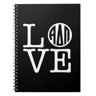 Cadernos Espiral Amor alfa do Pi | do delta