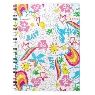 Cadernos Espiral Amor da praia do surf