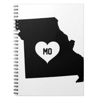 Cadernos Espiral Amor de Missouri
