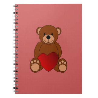 Cadernos Espiral Amor do ursinho