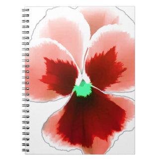 Cadernos Espiral Amor perfeito vermelho 201711b