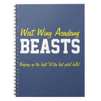 Cadernos Espiral Animais ocidentais da academia da asa