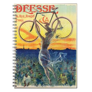Cadernos Espiral Anúncio retro 1898 da bicicleta