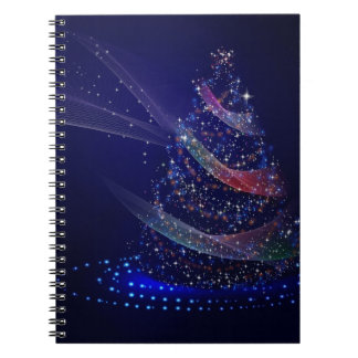 Cadernos Espiral Árvore azul bonita