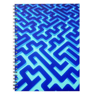 Cadernos Espiral Azul do labirinto
