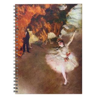 Cadernos Espiral Bailarina de Prima, Rosita Mauri por Edgar Degas