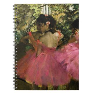 Cadernos Espiral Bailarinas no rosa por Edgar Degas