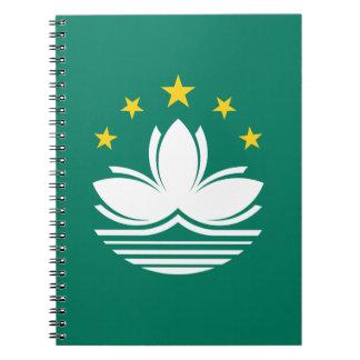 Cadernos Espiral Baixo custo! Bandeira de Macau
