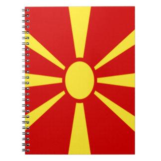 Cadernos Espiral Baixo custo! Bandeira de Macedónia