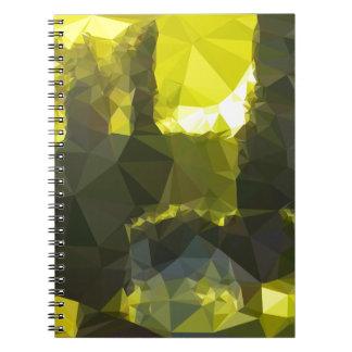 Cadernos Espiral Baixo polígono Backgrou do abstrato elétrico do