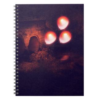 Cadernos Espiral Balão e sargeta vermelhos