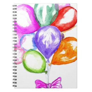 Cadernos Espiral Balões coloridos infláveis