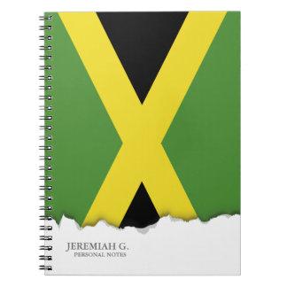 Cadernos Espiral Bandeira clássica de Jamaica