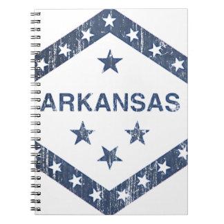 Cadernos Espiral Bandeira de Arkansas