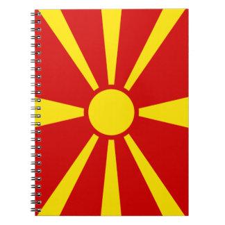 Cadernos Espiral Bandeira de Macedónia