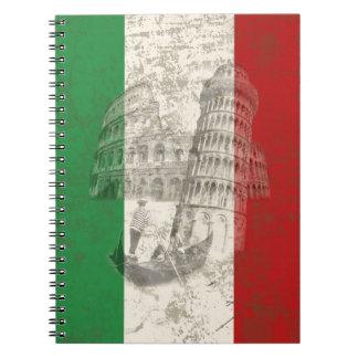 Cadernos Espiral Bandeira e símbolos de Italia ID157