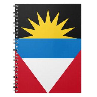 Cadernos Espiral Bandeira patriótica de Antígua e de Barbuda