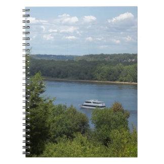 Cadernos Espiral Barco do rio Mississípi